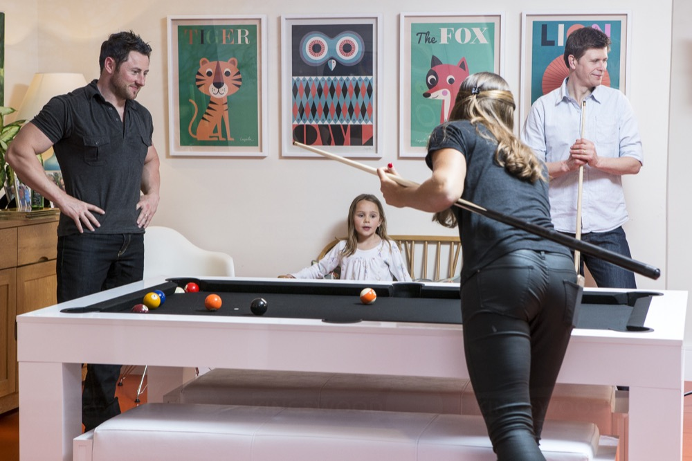 A pool table is a great addition to a social occasion