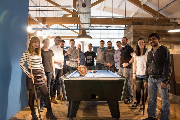 The pool table at CTI Digital's Manchester office