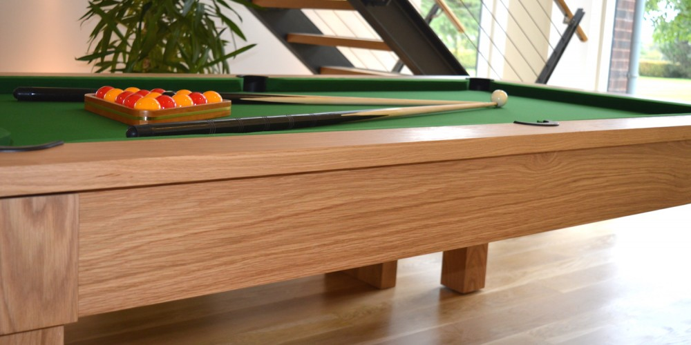 The Kingswood Oak pool dining table