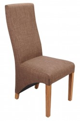 Baxter Linen Effect Dining Chairs in Cinnamon