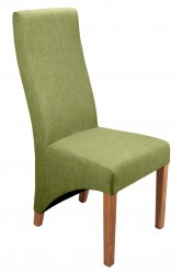 Baxter Linen Effect Dining Chairs in Lime