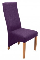 Baxter Linen Effect Dining Chairs in Plum