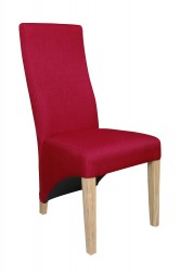 Baxter Linen Effect Dining Chairs in Red