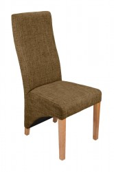 Baxter Tweed Dining Chairs in Dark Tweed