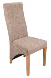 Baxter Tweed Dining Chairs in Light Tweed