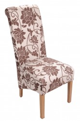 Mia Dining Chairs in Brown Floral