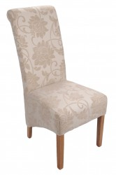 Mia Dining Chairs in Ivory Floral