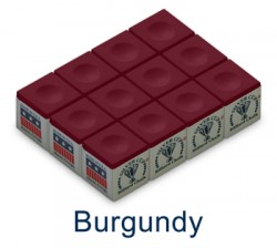 Silver Cup Billiard Chalk (Burgundy)