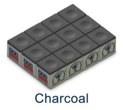Silver Cup Billiard Chalk (Charcoal)
