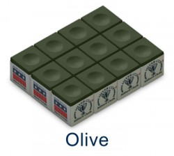 Silver Cup Billiard Chalk (Olive)
