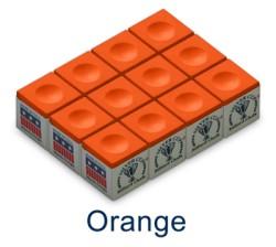 Silver Cup Billiard Chalk (Orange)