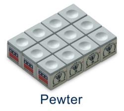 Silver Cup Billiard Chalk (Pewter)
