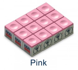 Silver Cup Billiard Chalk (Pink)
