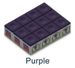 Silver Cup Billiard Chalk (Purple)