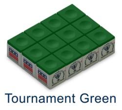 Silver Cup Billiard Chalk (Tournament Green)