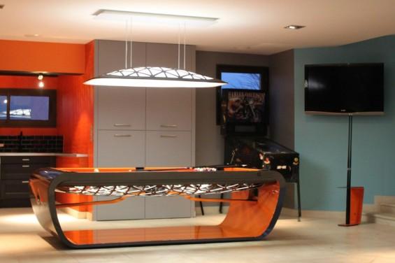 Billards Toulet Blacklight pool table from Kingwood