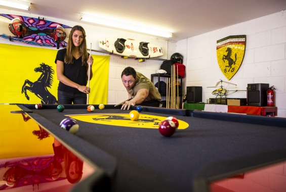 customised pool tables for your man cave or games room