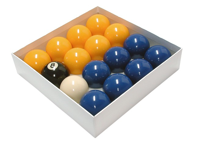 2 Inch Standard Set Blue & Yellow Pool Balls