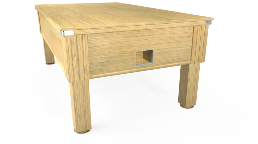 Emirates free play table with light oak solid top