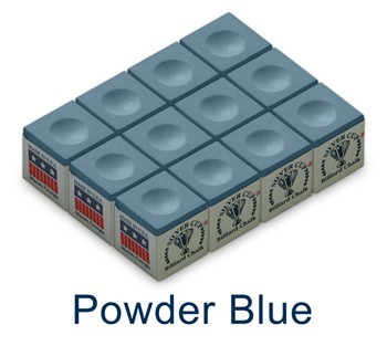 Silver Cup Billiard Chalk (Powder Blue)