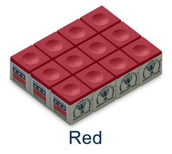 Silver Cup Billiard Chalk (Red)