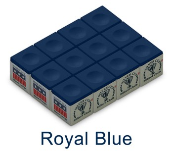 Silver Cup Billiard Chalk (Royal Blue)