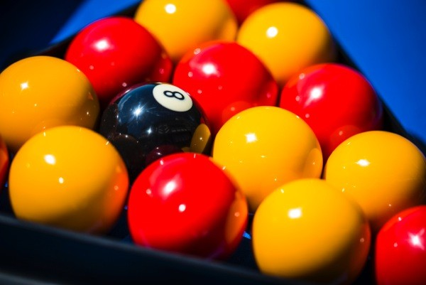 2 Inch Standard Set Red & Yellow Pool Balls