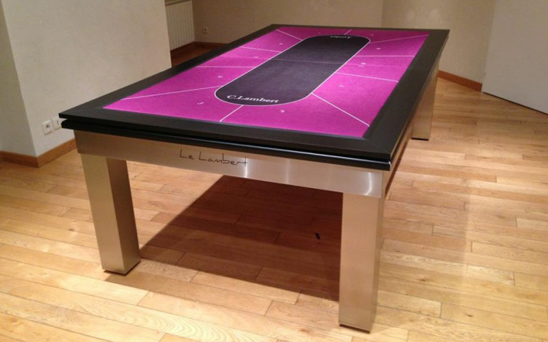 Le Lambert Pool Dining Table with gaming table cover