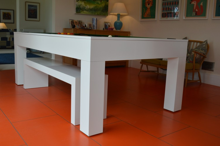 Kingswood Aspen pool dining table low down side view