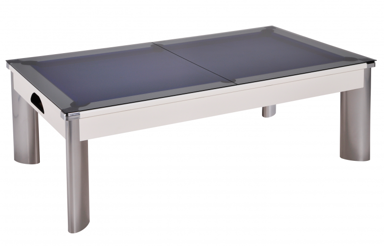 Fusion Outdoor Pool Dining Table with smoked glass tops
