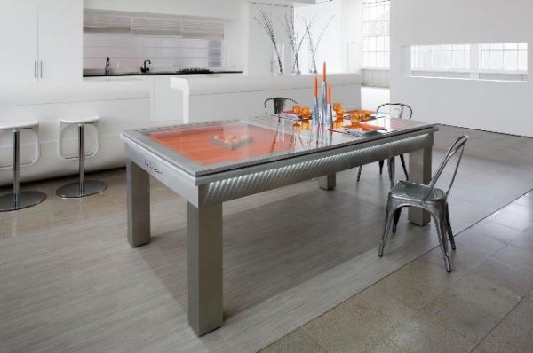Le Lambert Pool Dining Table with glass tops