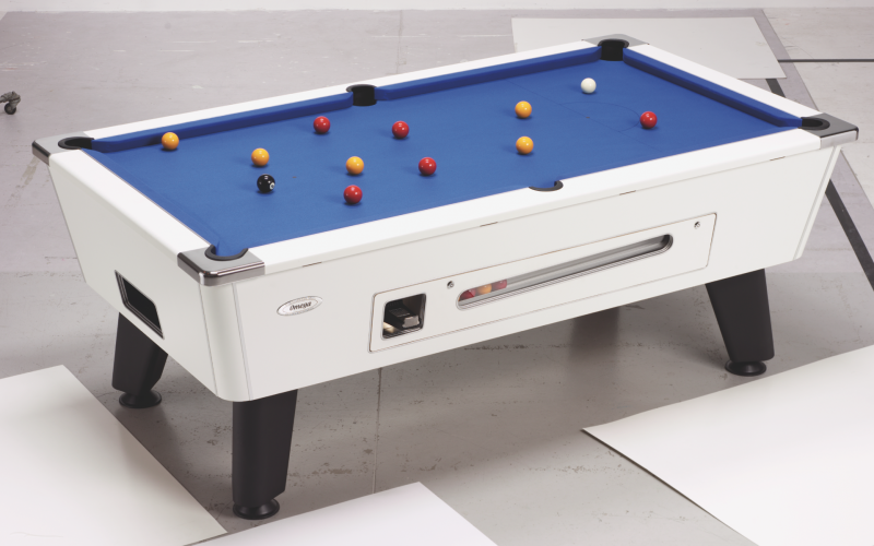 Outback Coin Operated Pool Table in play