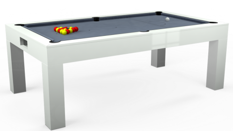 Kingswood Aspen pool dining table with Hainsworth Elite Pro Banker Grey cloth
