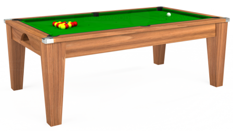 Avant Garde Pool Dining Table in Walnut with Standard Green cloth