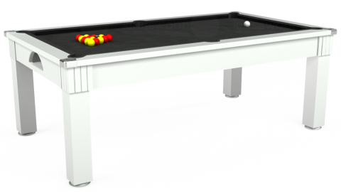 Windsor pool diner in white with black standard cloth