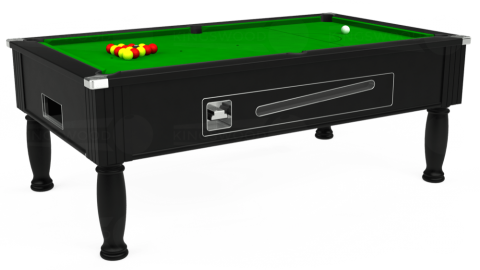 6ft Ascot Coin Operated in Black with Standard Green cloth
