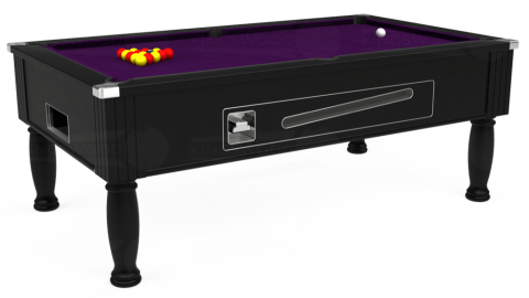 7ft Ascot Coin Operated in Black with Hainsworth Elite-Pro Purple cloth