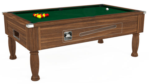 7ft Ascot Coin Operated in Dark Walnut with Hainsworth Elite-Pro Spruce cloth