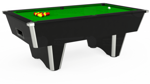 6ft Elite Free Play in Black with Standard Green cloth