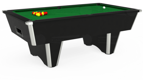 7ft Elite Free Play in Black with Hainsworth Elite-Pro English Green cloth