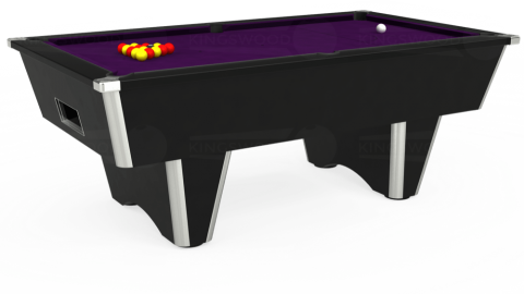 7ft Elite Free Play in Black with Hainsworth Elite-Pro Purple cloth