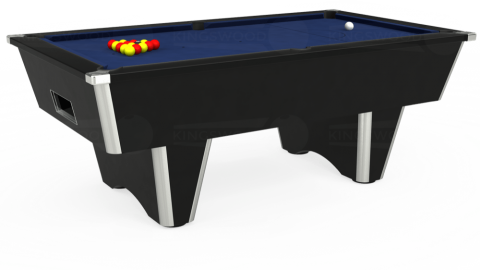 7ft Elite Free Play in Black with Hainsworth Smart Royal Navy cloth