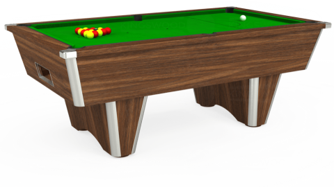 7ft Elite Free Play in Dark Walnut with Standard Green cloth