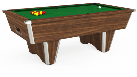 7ft Elite Free Play in Dark Walnut with Hainsworth Elite-Pro English Green cloth