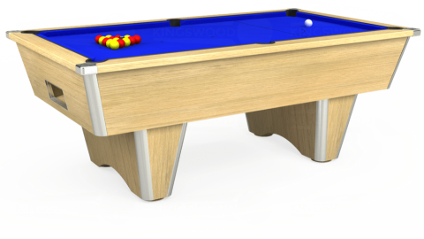 7ft Elite Free Play in Light Oak with Standard Blue cloth