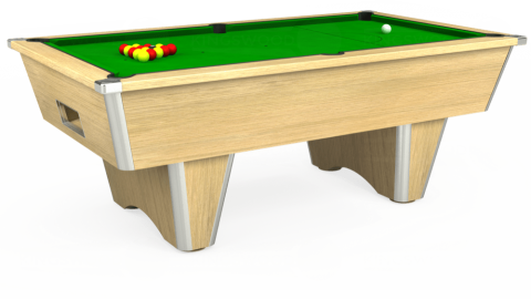 6ft Elite Free Play in Light Oak with Standard Green cloth