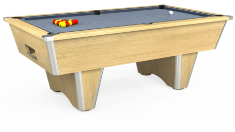 7ft Elite Free Play in Light Oak with Hainsworth Elite-Pro Bankers Grey cloth