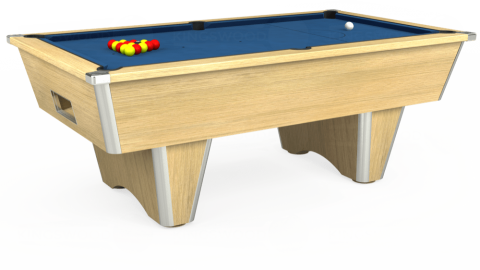7ft Elite Free Play in Light Oak with Hainsworth Elite-Pro Cadet Blue cloth