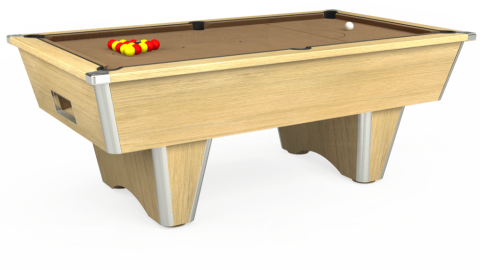 7ft Elite Free Play in Light Oak with Hainsworth Elite-Pro Camel cloth