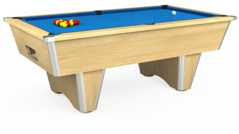 7ft Elite Free Play in Light Oak with Hainsworth Elite-Pro Electric Blue cloth